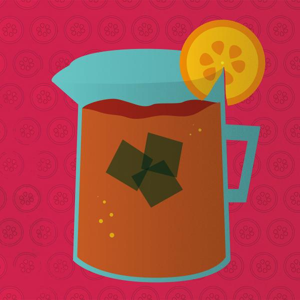 graphic image of iced tea pitcher