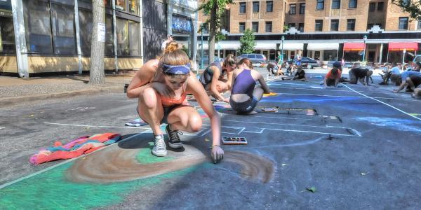 chalk festival on delmar