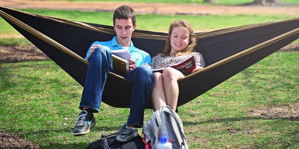 students in hammock